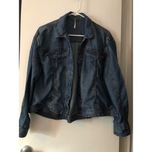 Free people baby doll Jean Jacket